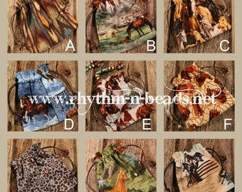 Rhythm Beads PRINT STORAGE BAG,  Rhythm Beads, Horse Lovers,