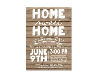 Wood Housewarming Party Invitation