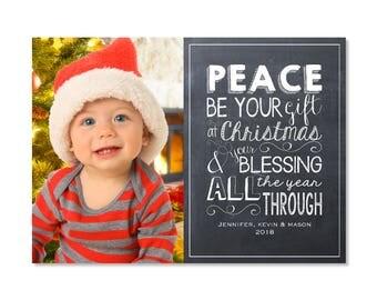 Chalkboard Christmas Photo Card