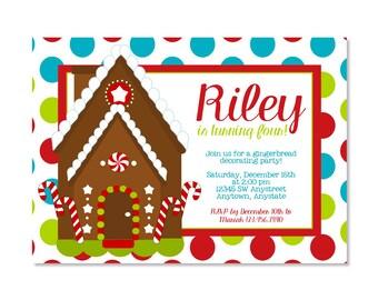 Gingerbread House Birthday Invitation