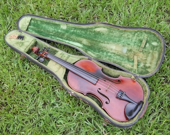 Rare George Nicholas Einsele 4/4 Violin W/Orig Case W L & Sons Plays Beautifully One Piece Back!