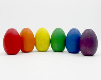 Wood Eggs - Classic Rainbow