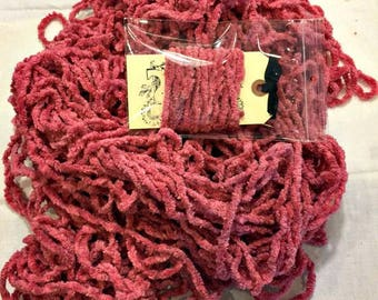 PEONY Hand-dyed Chenille Plush Trim 3 continuous yards Lady Dot Super Soft Plump Fuzzy Finishing notion