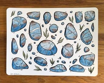 "Made of Stone - Original Drawing by Britta Berdin - 15,5  x 21cm (6x8,2"")"