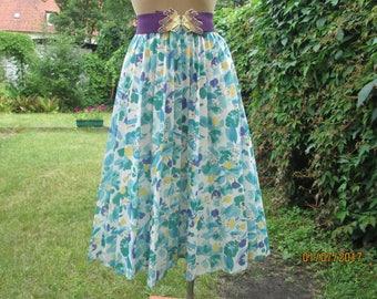 Pleated Skirt / Pleated Skirts / Circle Skirt / Pleated Circle Skirt / Skirt Vintage / Size EUR38 / 40 / 42 / UK10 / 12 / 14 / Turquoise