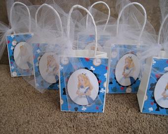 Disney Alice in Wonderland Party Favor Bags - Set of Six