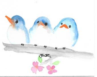 3 birds Digital Print