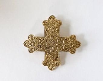 ON SALE Vintage Accessocraft Maltese Cross Pin or Pendant