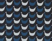 Welsummer Flock in Black, Kim Kight, Cotton and Steel, RJR Fabrics, 100% Cotton Fabric, 3060-01