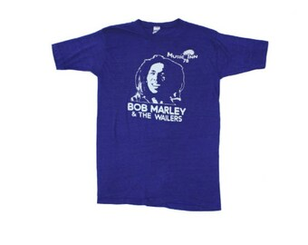 Vintage 1978 Bob Marley and the Wailers Tissue Tee