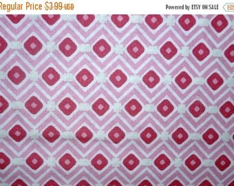 ON SALE 50% OFF On Sale Pink Diamonds Cotton Fabric by the Yard