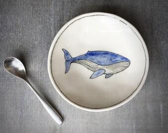 Minke whale trinket dish - Doodle Range Plate