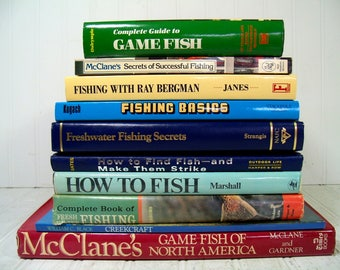 Collection of 10 Fishing Books - Fishing Basics, Secrets & How-To Books - 10 Vintage Fishing How To Handbooks - Fishing Secrets, Tips Guides