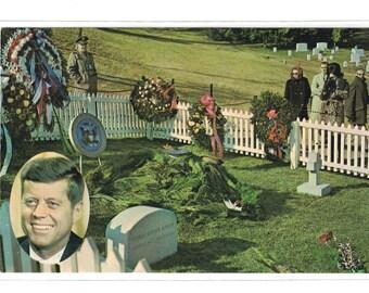 "Virginia, Vintage Postcard, ""Kennedy Grave, Arlington National Cemetery, Arlington. Va.,""  1960s, #1110."