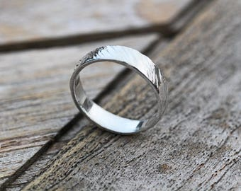 Fine Silver Textured Ring