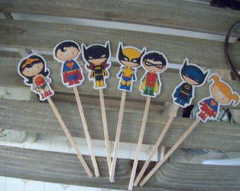 Superhero Cupcake Toppers Set of 35
