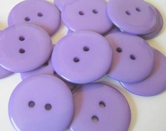 20  Plastic Purple Two Hole Buttons 23mm, Sewing