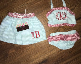 Personalized Monogrammed Swimsuits for Girls