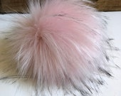 Pretty in Pink Faux Fur Pom Poms for Knit & Crochet Hats Craft Supply Embellishment add to Key Rings Purse Backpack Fob Beanie Toque
