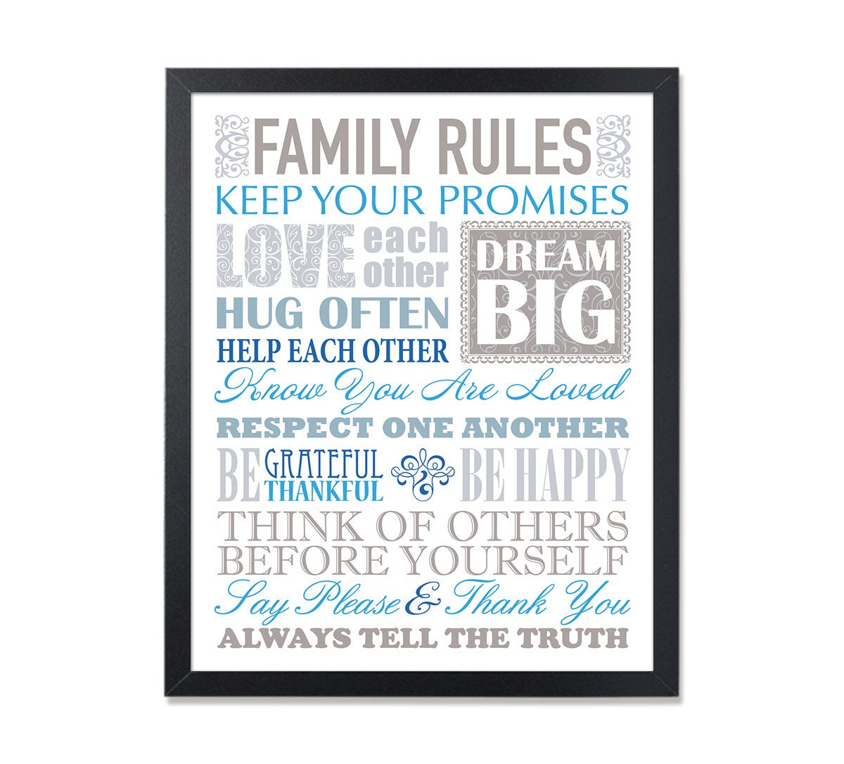 Our Family Rules House Rules Life Quote Life Rules Family