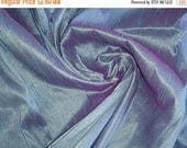 15% off on Fat quarter lavender and red dual tone dupioni silk blend