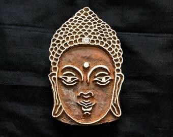 Gautam Buddha/ Budha / sacred/ nirvana/ Indian block printing stamp/ tjap/ wooden block for printing/ paper fabric printing stamp