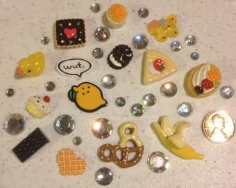 Lemon say Wut? Decoden kit collection Yellow tones rainbow rhinestones kawaii phone case decoration