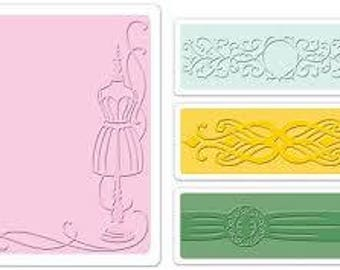 Sizzix Textured Impressions Embossing Folders 2PK - DRESS FORM  Set