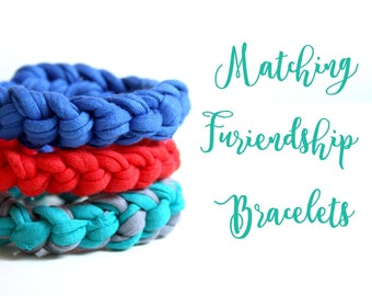 Matching Furiendship Bracelet  - Pick your own color, crochet bracelet, gift for her, upcycled