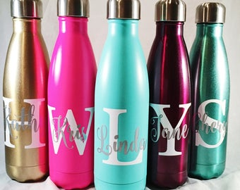 Personalized Swell Bottle - Big Initial and Name