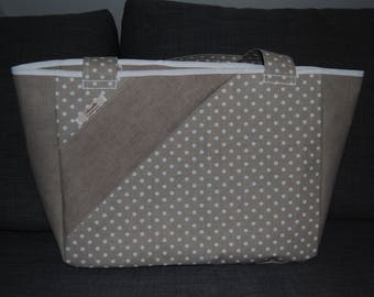 Medium size polka dot pattern tote bag, can be customized