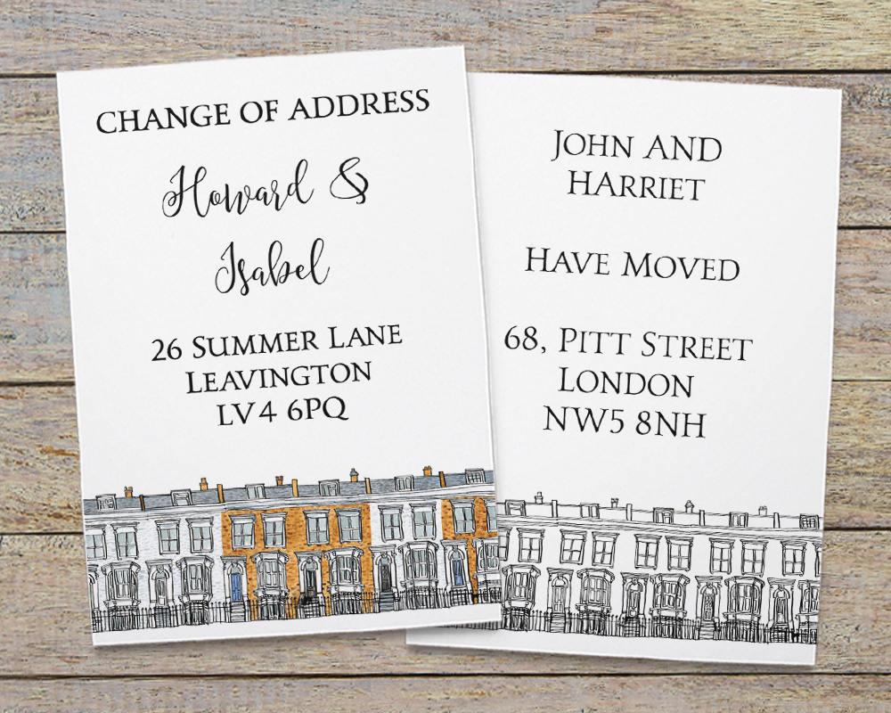 postcards for change of address