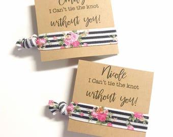 Will You Be My Bridesmaid Card - Ask Bridesmaid - Bridesmaid Card Bridesmaid Proposal Asking Bridesmaid Cute Bridesmaid Card Hair Tie Favor