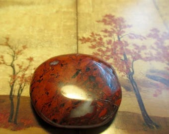 Channel Earth Energy Red Jasper Palm Stone