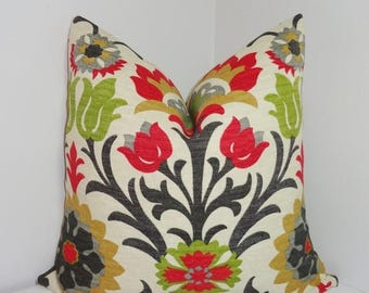 FALL Is COMING SALE Outdoor Pillow Cover Bright Colorful Waverly Santa  Maria Jewel Floral Indoor/