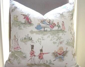 SPRING FORWARD SALE Covington Over The Moon Toile Nursery Print Pillow Cover Baby Boy Girl Nursery Decorative Pillow Cover