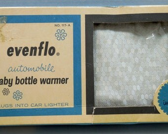 1964 Evenflo Automobile Baby Bottle Warmer, The Pyramid Rubber Co, Made in USA, Vintage Baby Items, 60s Baby Items, Plugs into Car Lighter