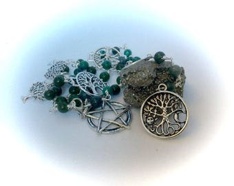 "Tree of Life Witches Ladder Gemstone Witches Ladder Wiccan ""Spell Casting"" Wire Wrapped"