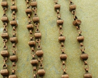 Copper tone beaded chain