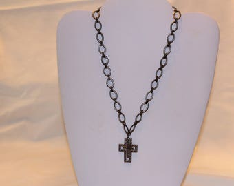Necklace, Silver Cross Pendant, Cross Jewelry, Religious Jewelry, Religious Necklace, Silver Cross Necklace, Cindydidit
