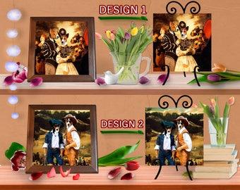 Basenji Dog Lovers Gift Dog Art Home Décor Ceramic Framed Tile or With Raised Black Easel by Nobility Dogs Ready to Hang Tile Frame