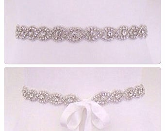 Wedding dress belt,crystal bridal sash,crystal wedding belt,--KATE
