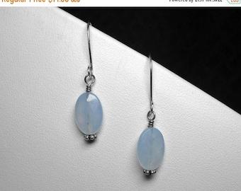 Chalcedony Earrings in Silver