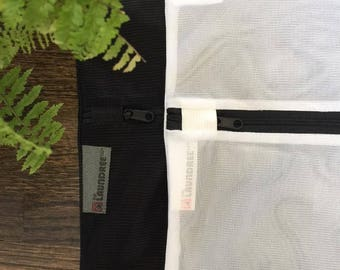 Laundry Wash Bags - Set of 3 Bags - 2 Large and 1 Medium size, Black/White Mesh, Sort Socks, Bras, Baby items, and All Delicates