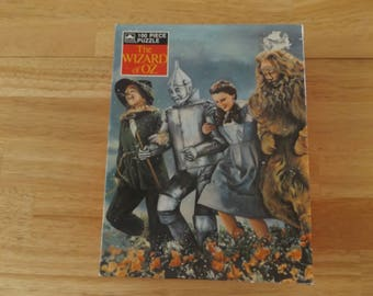Vintage Wizard of Oz Jigsaw Puzzle / Golden Puzzle / Turner Entertainment MGM / 100 Interlocking Pieces 80's