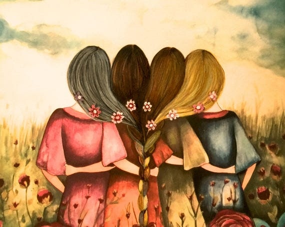 The four sisters mother daughters CANVAS