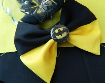 Batman inspired fabric bow