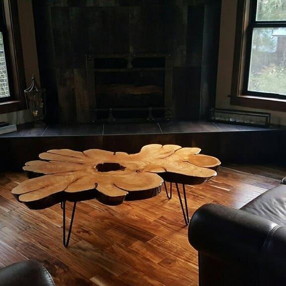 Custom Coffee Tables cedar blossom custom coffee tables live edge rustic slab