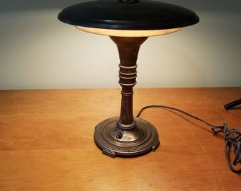 Sight Light Modern Mid Century Flying Saucer Desk Table Lamp ~ 1930's