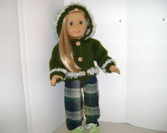 """Handmade Hoodie Outfit for """"Isabelle"""" A.G. Doll and all 18"""" Dolls"""